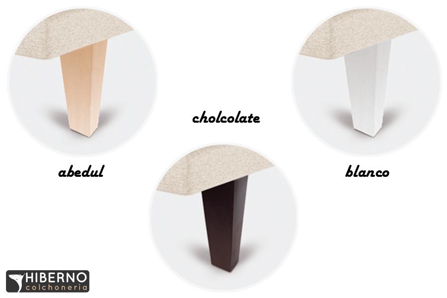 Patas para bases Madera Piramidal (4 piezas) Sonpura